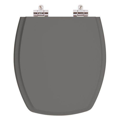 Assento Sanitário Poliéster com Amortecedor Thema Cinza Escuro (Ambar) para Vaso Incepa