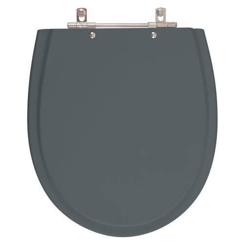Assento Sanitário Polo Cinza Plus para Louça Hervy