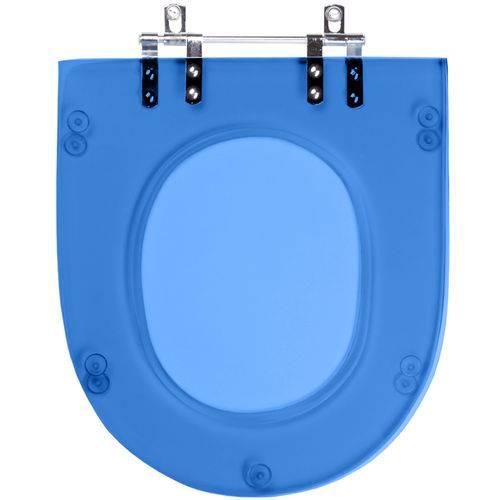 Assento Sanitario Poliester Life Azul Translucid para Louça Celite