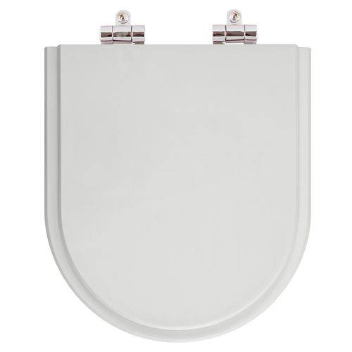Assento Sanitario Poliester Soft Close Smart Cinza Prata para Vaso Celite
