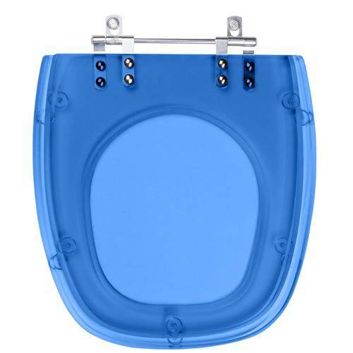 Assento Sanitario Poliester Stylus Azul Translucid para Louça Celite