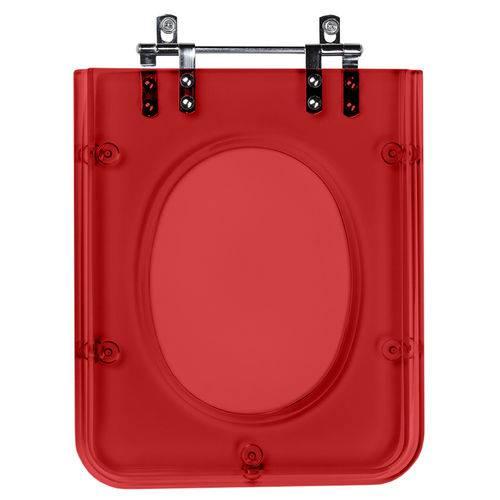 Assento Sanitario Poliester Quadra Vermelho Transl para Louça Deca