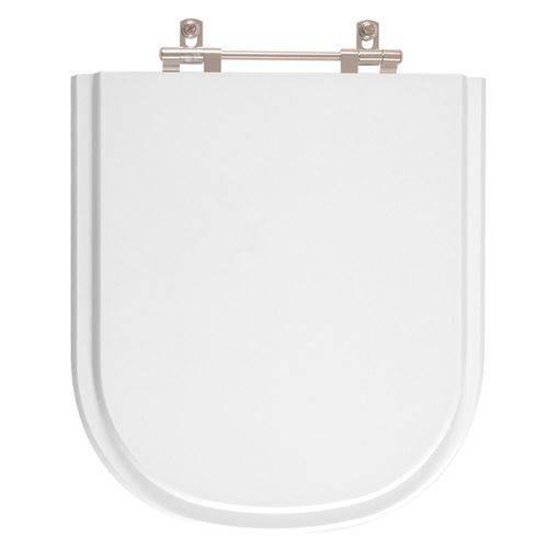 Assento Sanitário Poliéster Vogue Plus Branco Gelo para Louça Deca