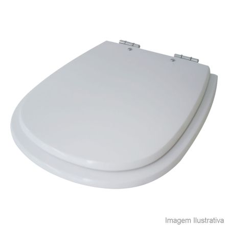 Assento Sanitário Sabatini MDF Laqueado Branco Tondo