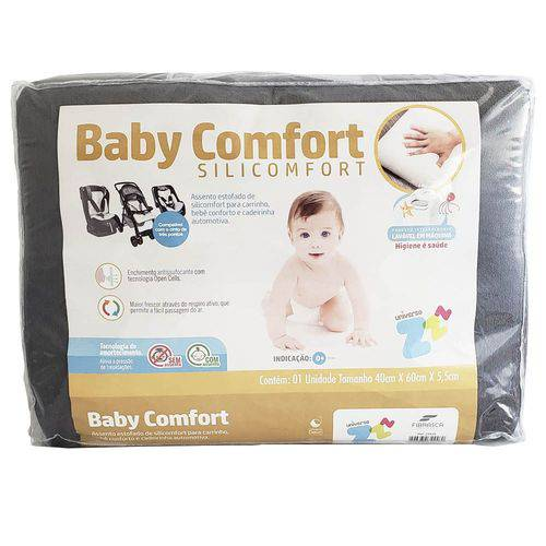 Assento Silicomfort Baby para Carrinho Grafite Fibrasca