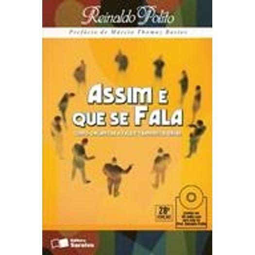 Assim e que se Fala - Saraiva - C/CD Audio - 27 Ed