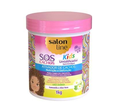 Ativador de Cachos 1Kg S.O.S Cachos Kids Umidificador - Salon Line