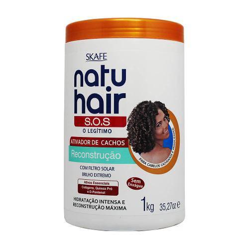 Ativador de Cachos Natu Hair S.O.S Reconstrução 1kg - Skafe