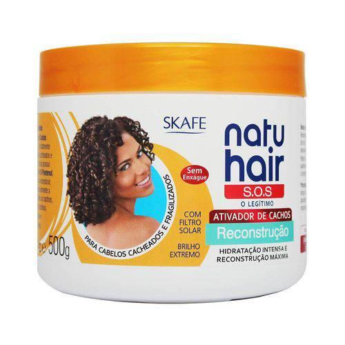Ativador de Cachos Natu Hair S.O.S Reconstrução 500g - Skafe