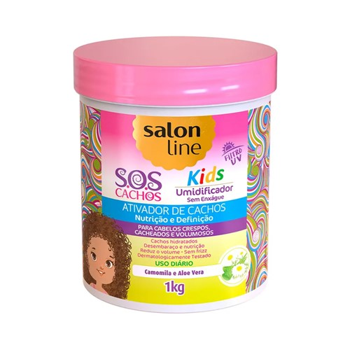 Ativador de Cachos Umidificador S.O.S Cachos Salon Line Kids 1kg
