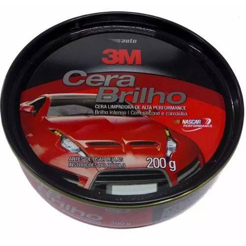 Auto Cera Brilho com Silicone e Carnauba Lata 200g - 3m