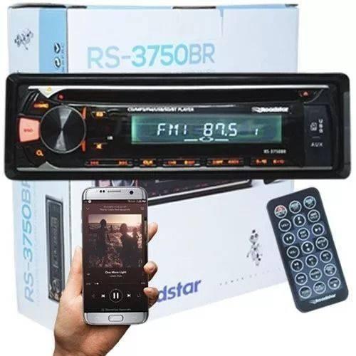 Auto Radio Cd Player Roadstar Usb / Bluetooth / Sd C/controle 4x52 Rms Rs-3750br