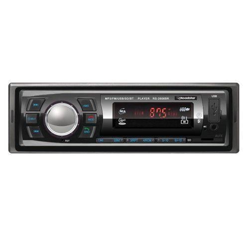 Auto Radio Roadstar C/ Bluetooth C/ Controle 4x25 Rms Rs-2606