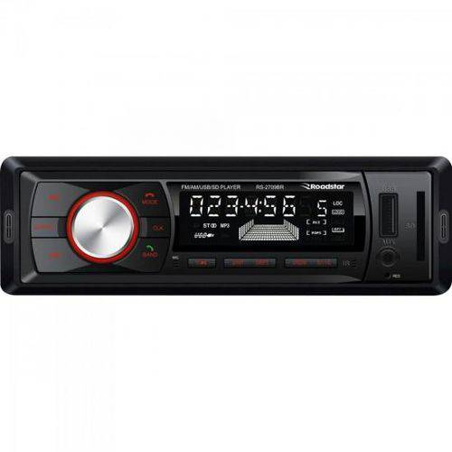 Auto Rádio USB/Am/Fm/Bluetooth Rs-2709BR Preto Roadstar