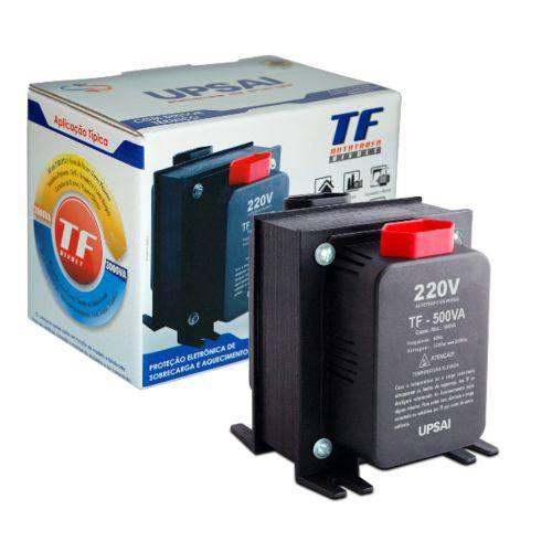 Auto Transformador de Voltagem 500va Automático Bivolt 110v 220v ou 220v 110v Upsai 51000050