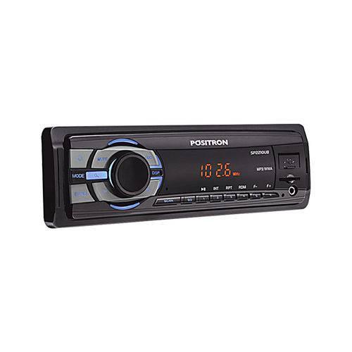 Autorrádio Pósitron SP2210UB FM MP3 com Entrada USB Auxiliar e Micro SD