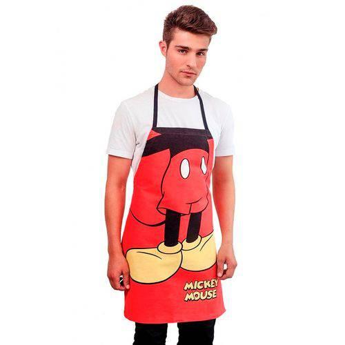 Avental Adulto Mickey Mouse Lepper Limpa Fácil Vermelho