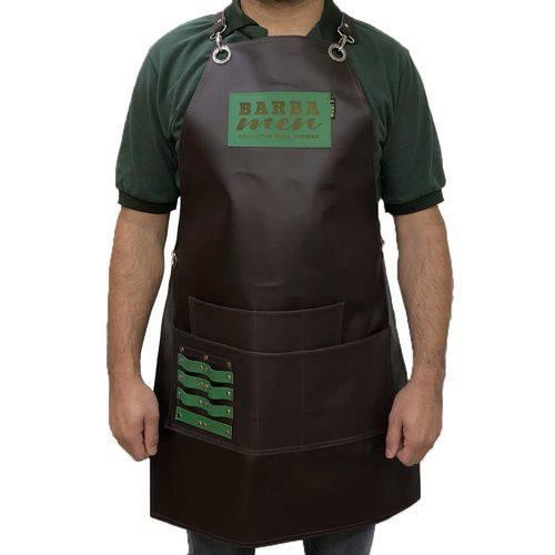Avental para Barbeiro - Barba Men - Marrom Fosco