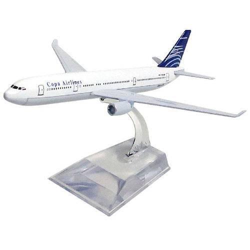 Avião Comercial Copa Airlines Airbus A330 Metal Miniatura