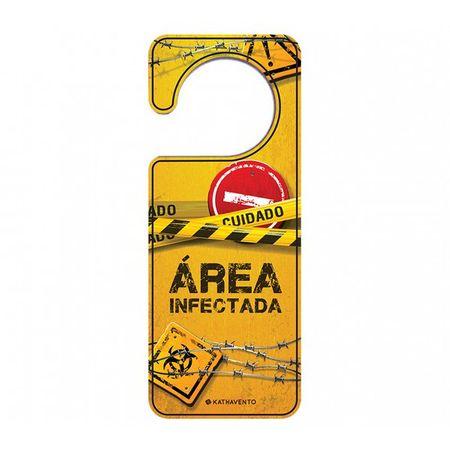Aviso de Porta Área Restrita