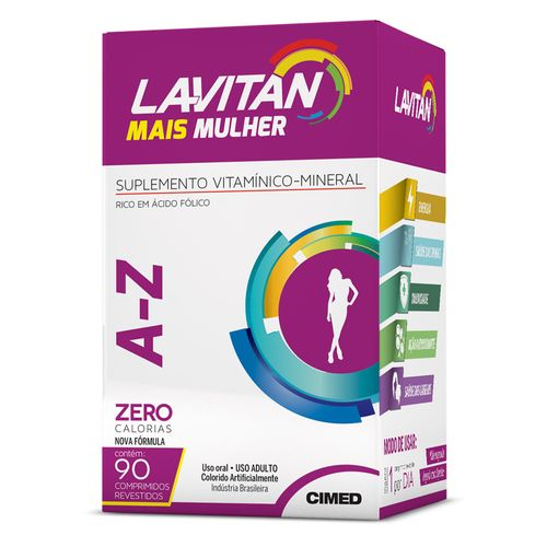Az + Mulher Lavitan 90 Comprimidos Revestidos