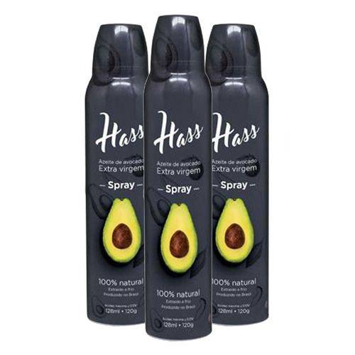 3 Azeite Hass 128 Ml Cada Spray Óleo de Abacate Avocado