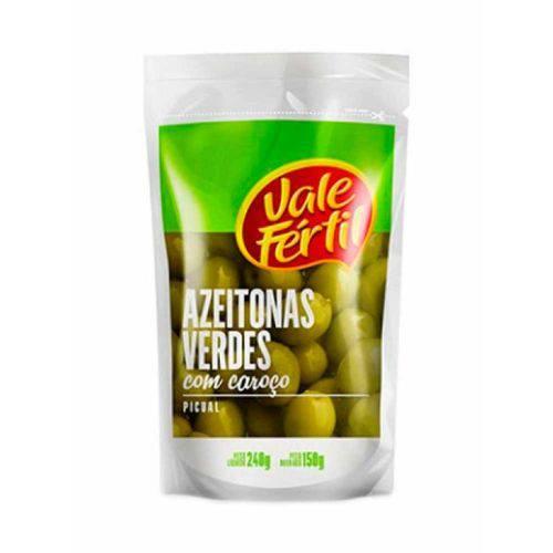 Azeitonas Verdes com Caroço - Vale Fértil - 150g