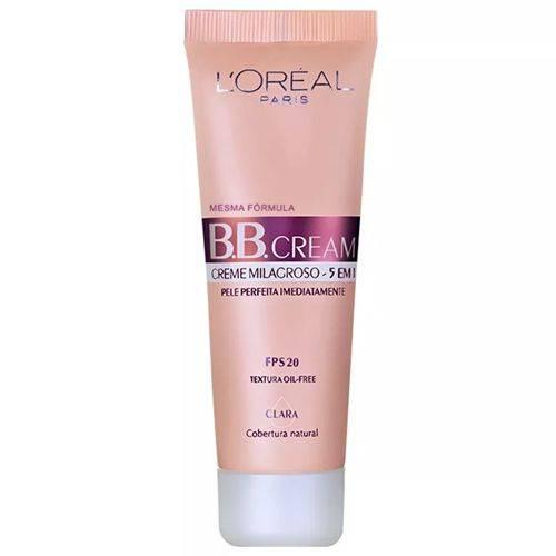 B.B. Cream Creme Milagroso 5 em 1 Base Clara FPS20 30mL