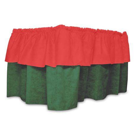 Babado de Mesa de TNT Vermelho C/ Verde