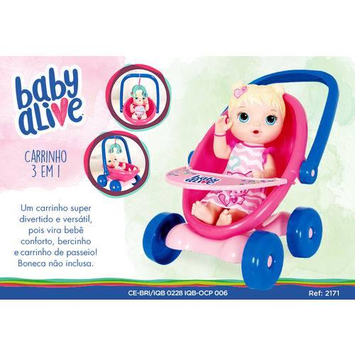Baby Alive Carrinho 3 em 1