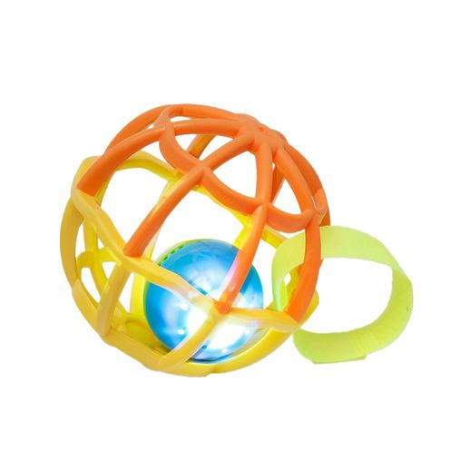 Baby Ball Luz e Som Laranja com Amarelo - Buba