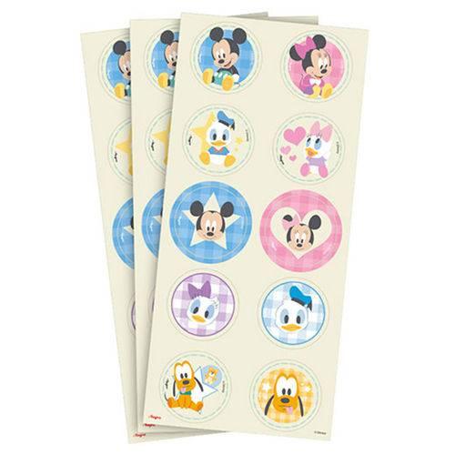 Baby Disney Chá Revelação Adesivo C/30 - Regina