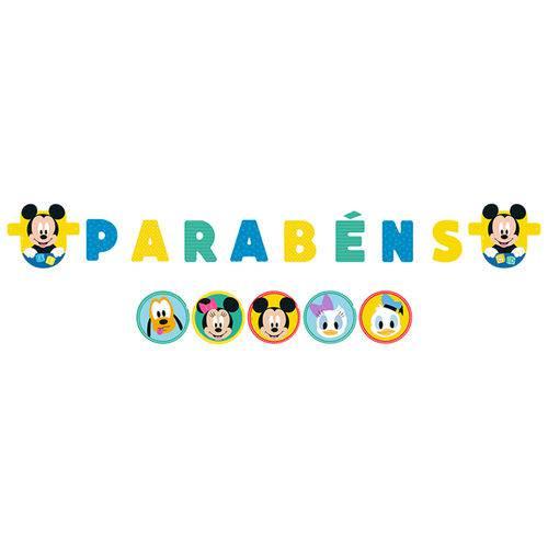 Baby Disney Mickey Faixa Parabéns - Regina