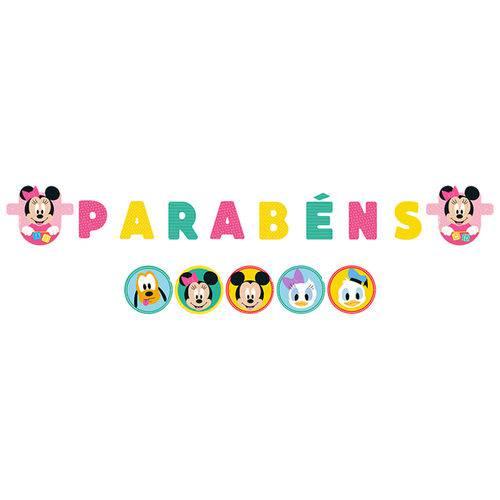 Baby Disney Minnie Faixa Parabéns - Regina
