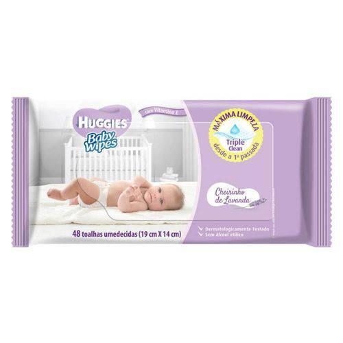 Baby Wipes Lavanda Lenço Umedecido Infantil C/48