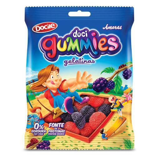 Bala de Gelatina Gummies Amoras 300g - Docile