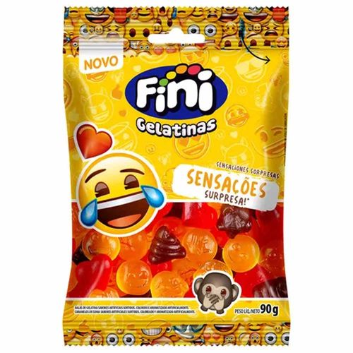 Bala de Goma Emoji 90g Fini 1026972