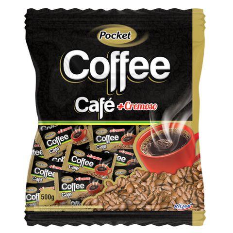 Bala Dura Pocket Cremosa Coffee Freegells 500g - Riclan