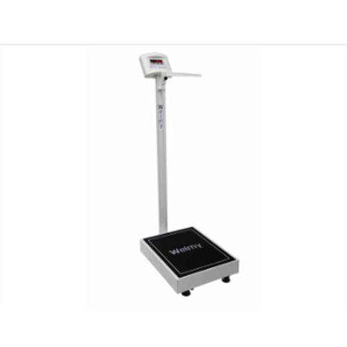 Balança Antropométrica Digital 300 Kg - Plataforma 40cm X 50cm Visor em Led - Welmy
