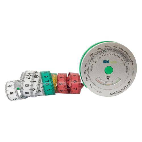 Balança Bioimpedância + Plicômetro Adipômetro Clínico + Trena 150cm Risco Cardíaco e IMC Avanutri