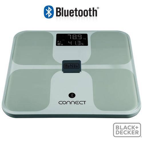 Balança Bluetooth Bioimpedância Black Decker 150 Kg com APP B&D