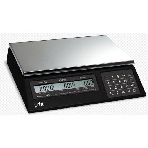 Balança Contadora Toledo 3400 2.5kg X 0.5g Impressora Toledo