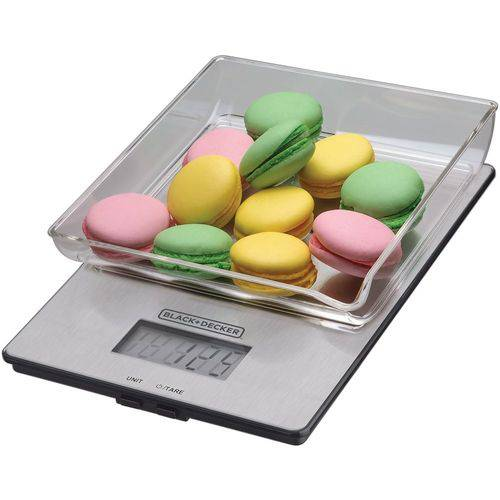 Balança de Cozinha 5Kg Digital Inox BCINOXT Black+Decker
