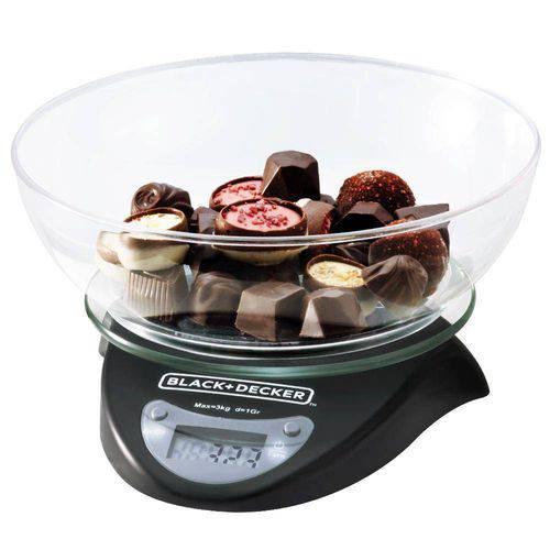 Balança de Cozinha 3kg com Visor Digital Bc250 - Black Decker