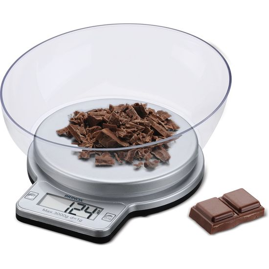Balança Digital com Recipiente para Cozinha 3kg