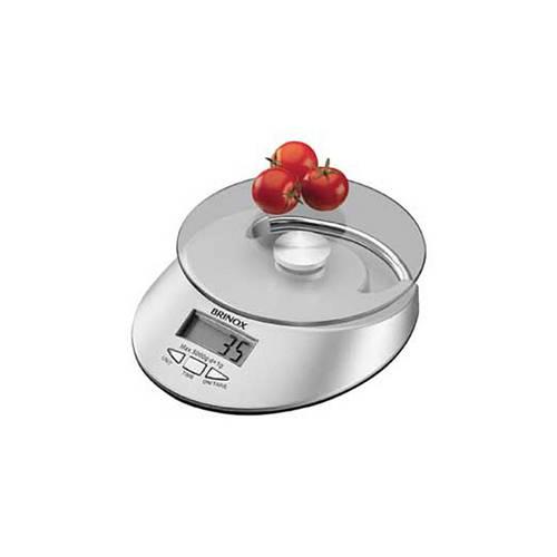 Balança Digital com Relógio para Cozinha
