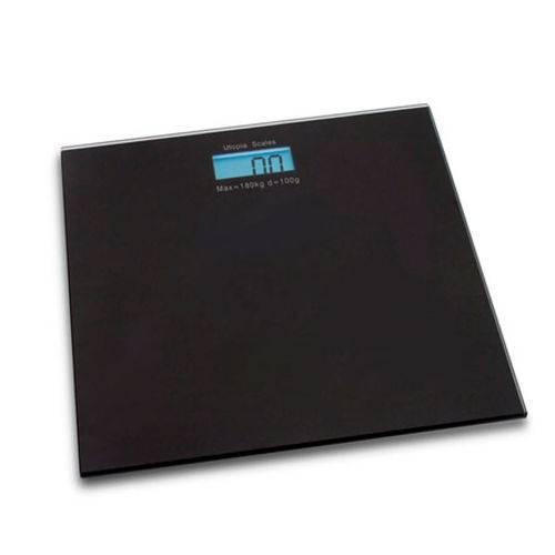 Balança Digital de Vidro para Banheiro Preta 180 Kg
