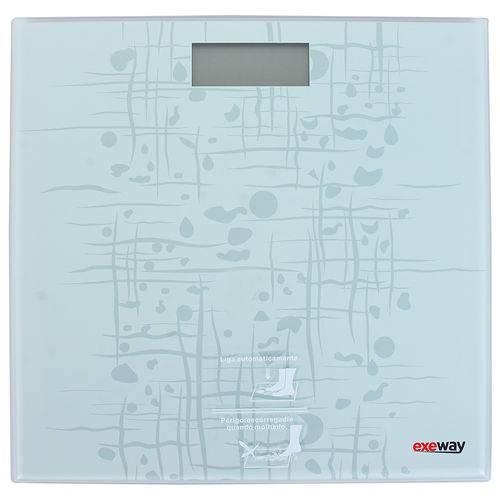 Balança Digital Exeway 150 Kg Quadrada, Branca