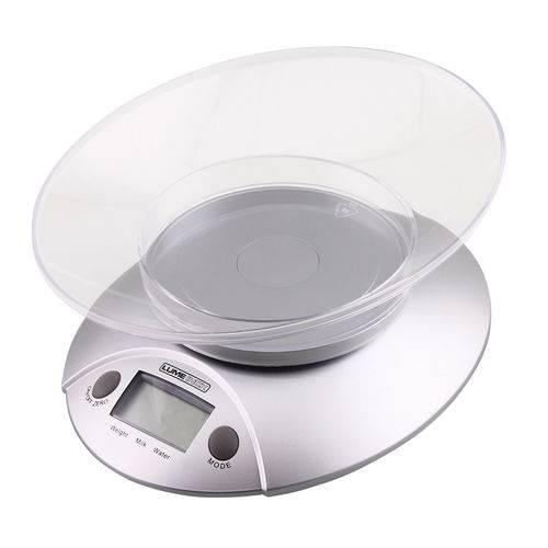 Balança Digital para Cozinha 5 Kg com Recipiente