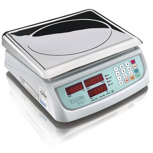 Balança Eletrônica Computadora Elgin Dp15 Plus 15kg Prato em Inox